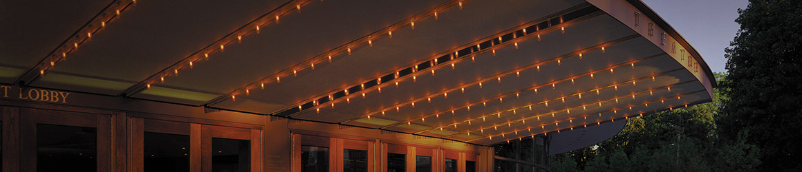 Photography of the lights at the Festival Theatre