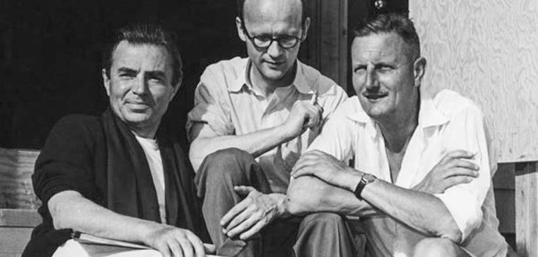 James Mason, Tom Patterson and Tyrone Guthrie. Photo by Peter Smith.