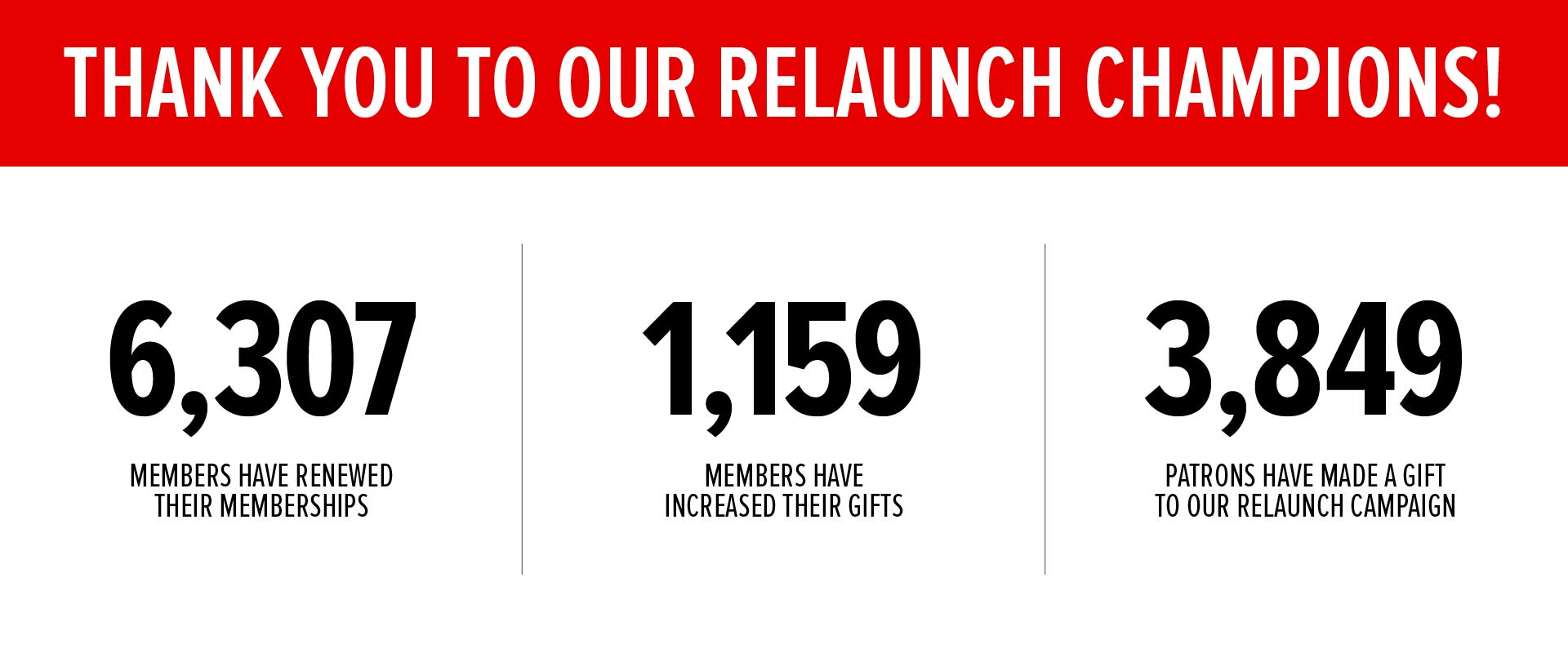 THANK YOU TO OUR RELAUNCH HEROES