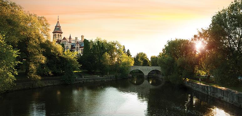 Archival photo of the Avon River in Stratford