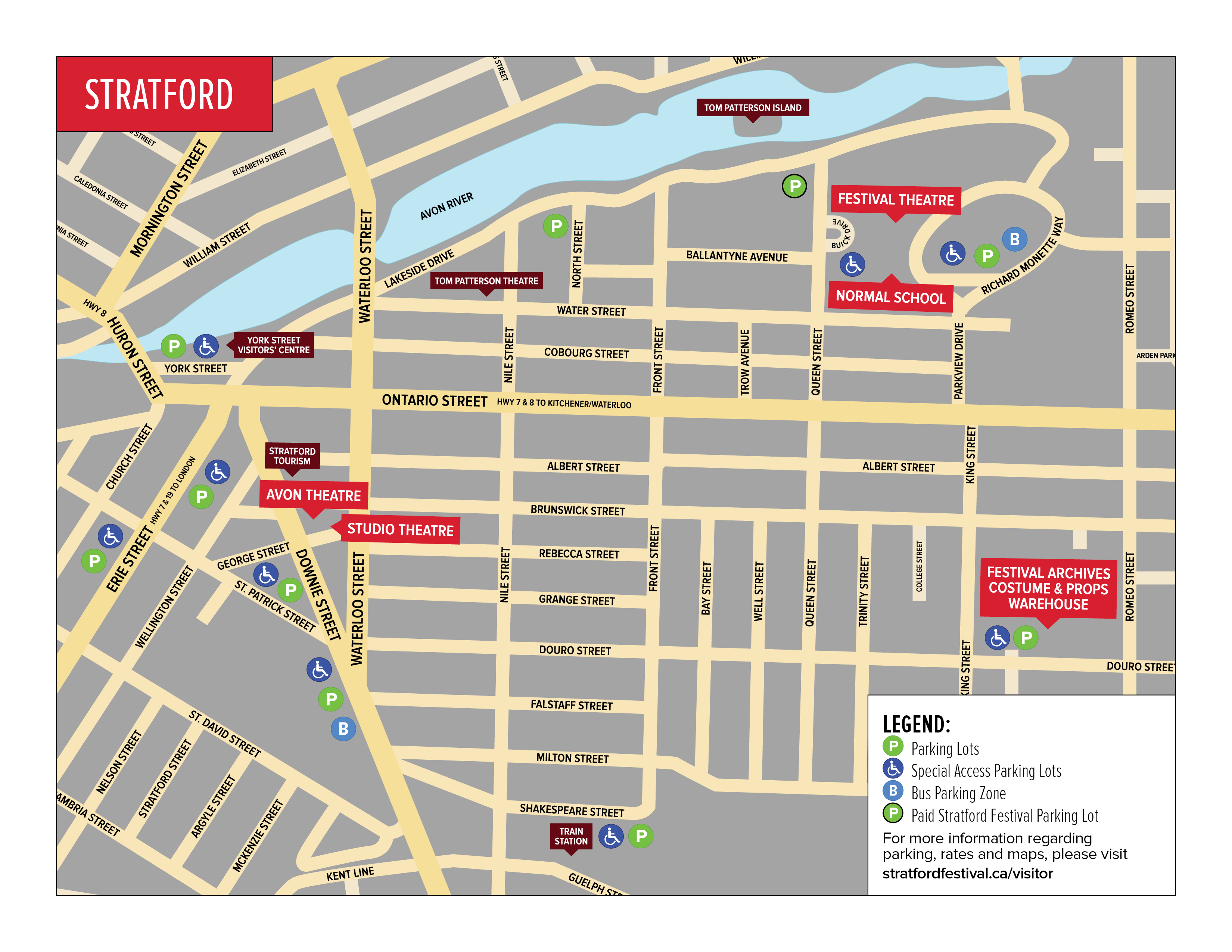 Stratford city parking map