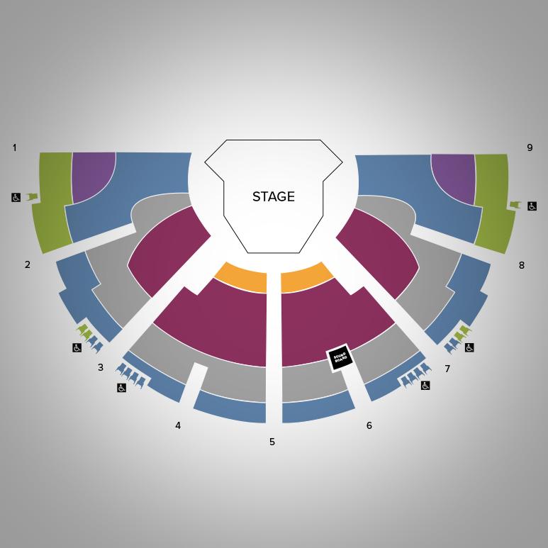 Festival Theatre Seat Map