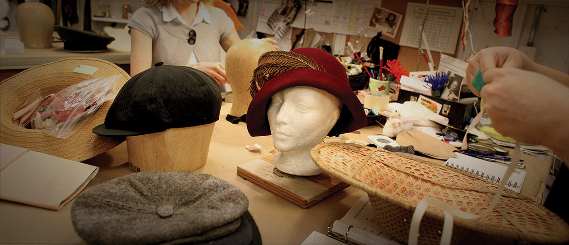 An assortment of hats from our Millinery Department.