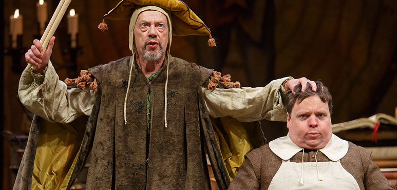 Stephen Ouimette as Subtle and Steve Ross as Drugger in The Alchemist. Photography by David Hou.