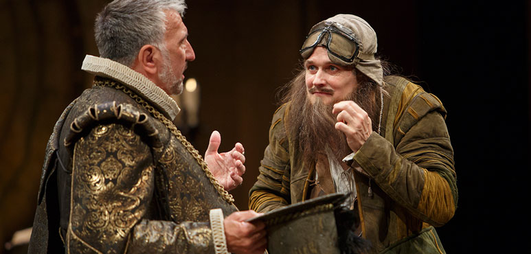 Jonathan Goad (right) as Face and Scott Wentworth as Epicure Mammon in The Alchemist. Photography by David Hou.