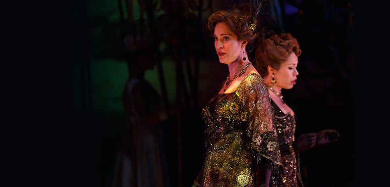 Ayrin Mackie (left) as Mrs. Segstrom and Jennifer Rider-Shaw as Mrs. Nordstrom. Photography by David Hou.