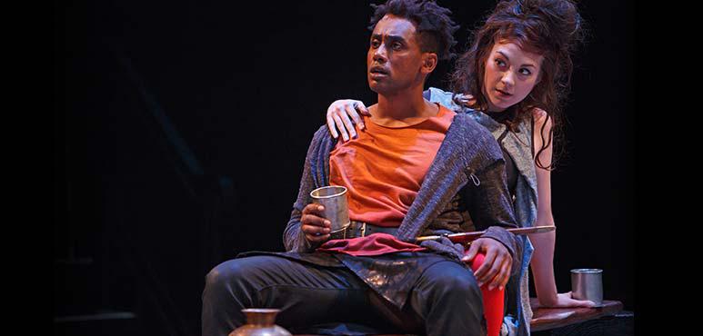 Araya Mengesha as Prince Hal and Mikaela Davies (ensemble). Photography by David Hou.