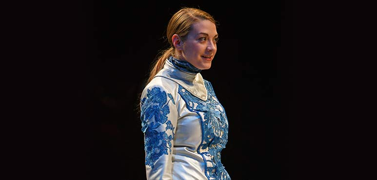Mikaela Davies as The Dauphin. Photography by David Hou.