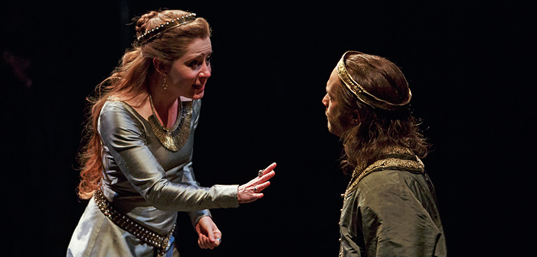 Krystin Pellerin as Lady Macbeth and Ian Lake as Macbeth. Photography by David Hou.