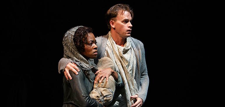 Monice Peter as Creusa and Gareth Potter as Aeneas. Photography by David Hou.