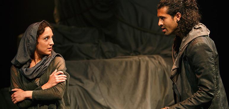 Bahareh Yaraghi as Pyrgo and Saamer Usmani as Achates. Photography by David Hou.
