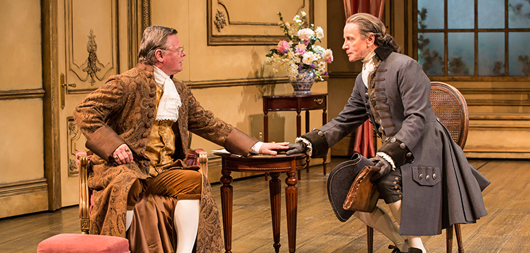 Geraint Wyn Davies (left) as Sir Peter Teazle and Brent Carver as Rowley. Photography by Cylla von Tiedemann.