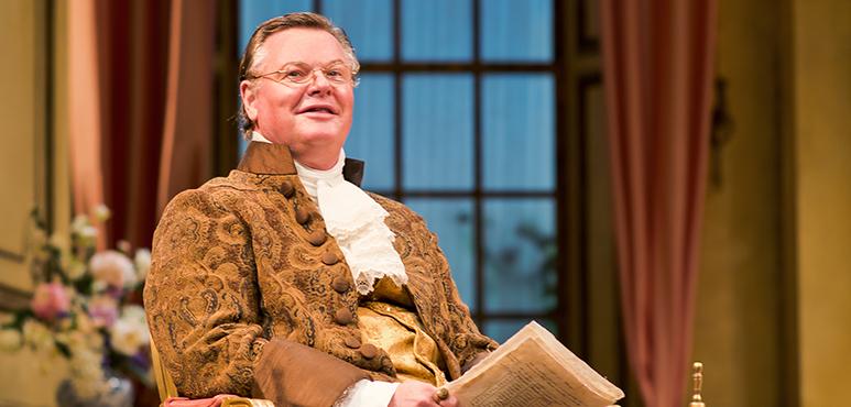 Geraint Wyn Davies as Sir Peter Teazle. Photography by Cylla von Tiedemann.