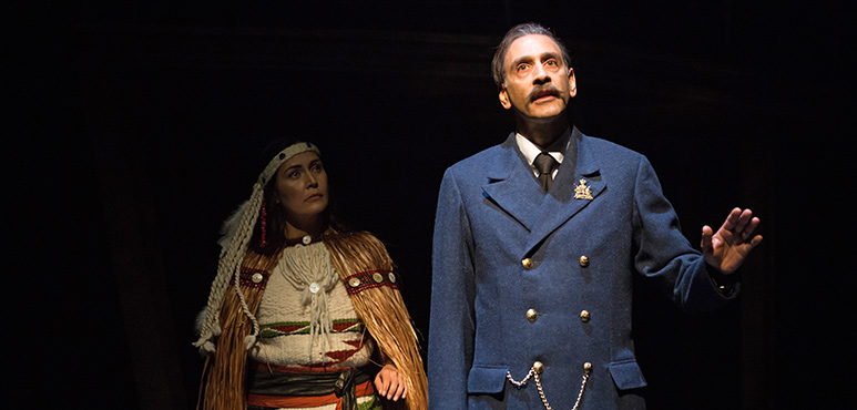 Quelemia Sparrow as T.S. and Omar Alex Khan as William Hopkinson. Photography by Cylla von Tiedemann.