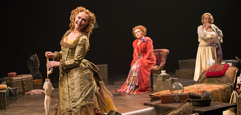 From left: Marion Adler as Gabrielle, The Madwoman of Saint-Sulpice, Seana McKenna as Aurélie, The Madwoman of Chaillot, and Kim Horsman as Constance, The Madwoman of Passy. Photography by Cylla von Tiedemann.
