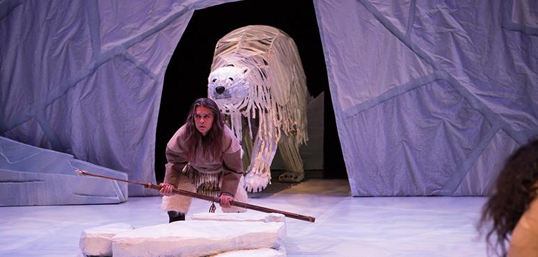Gordon Patrick White as Higguk and Bruce Hunter as Angu'juaq. Photography by Cylla von Tiedemann.