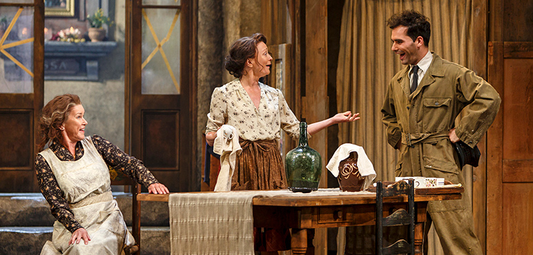 From left: Chick Reid as Adelaide Schiano, Brigit Wilson as Amalia and Johnathan Sousa as Amedeo. Photography by David Hou.
