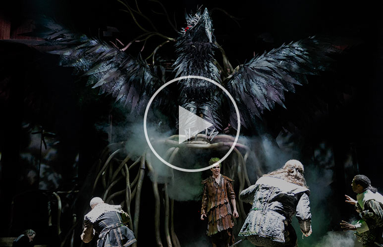 Check out this exclusive sneak peek at the spectacular Harpy from The Tempest