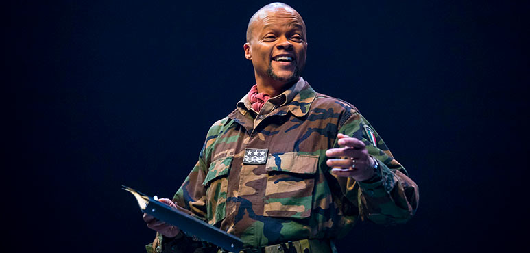 Michael Blake as Othello in Othello. Photography by Chris Young.