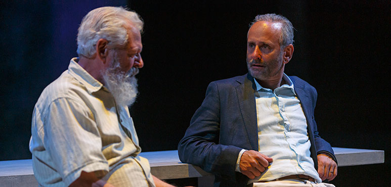 Harry Nelken (left) as Etgar and Alon Nashman as David in Birds of a Kind. Photography by David Hou.
