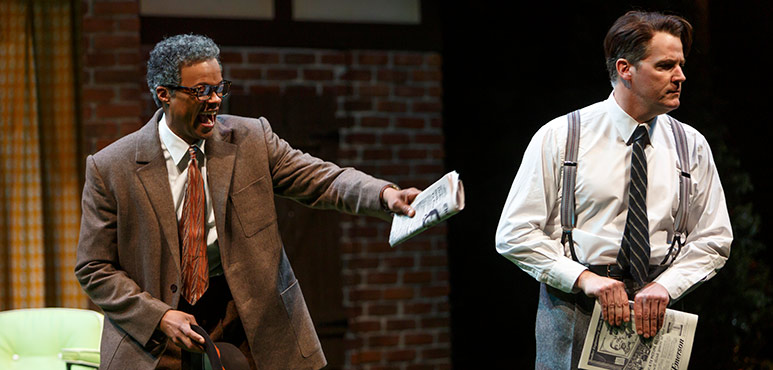 Michael Blake (left) as Mr. Page and Graham Abbey as Mr. Ford. Photography by David Hou.