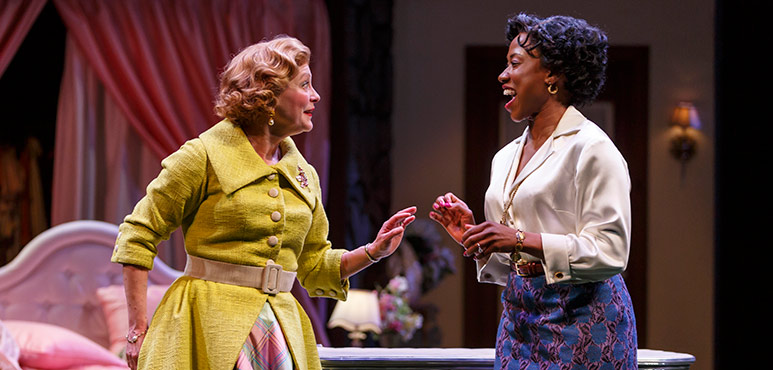 Brigit Wilson (left) as Mrs. Page and Sophia Walker as Mrs. Ford. Photography by David Hou.