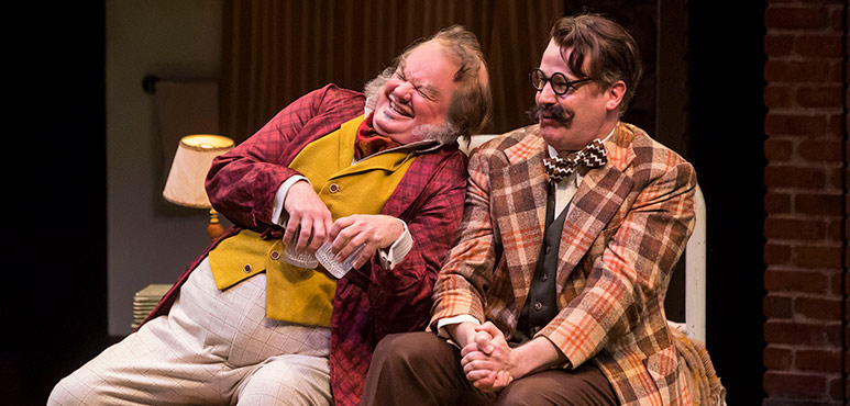 Geraint Wyn Davies (left) as Falstaff and Graham Abbey as Mr. Ford. Photography by Chris Young.