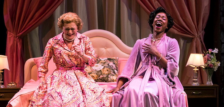 Brigit Wilson (left) as Mrs. Page and Sophia Walker as Mrs. Ford. Photography by Chris Young.