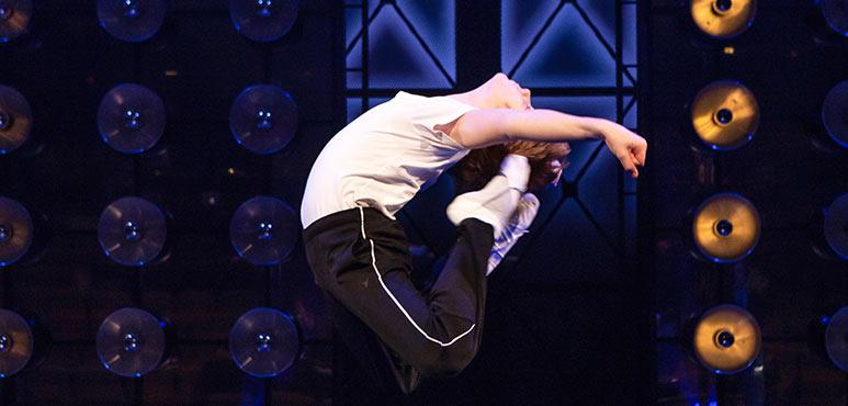 Nolen Dubuc as Billy Elliot in Billy Elliot the Musical. Photography by Cylla von Tiedemann.