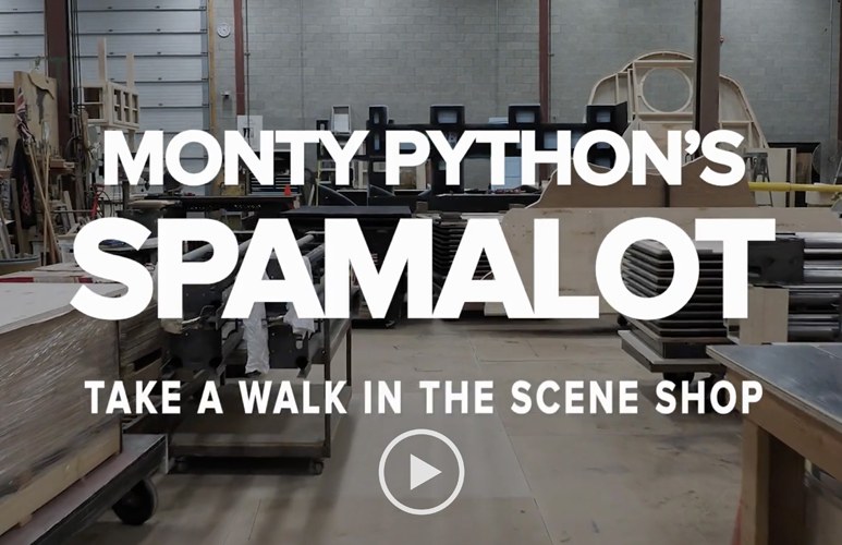 Sneak Peek: Monty Python's Spamalot in the Scene Shop