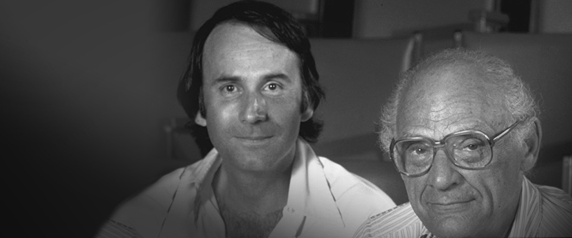 Photograph of Stanley Silverman and Arthur Miller