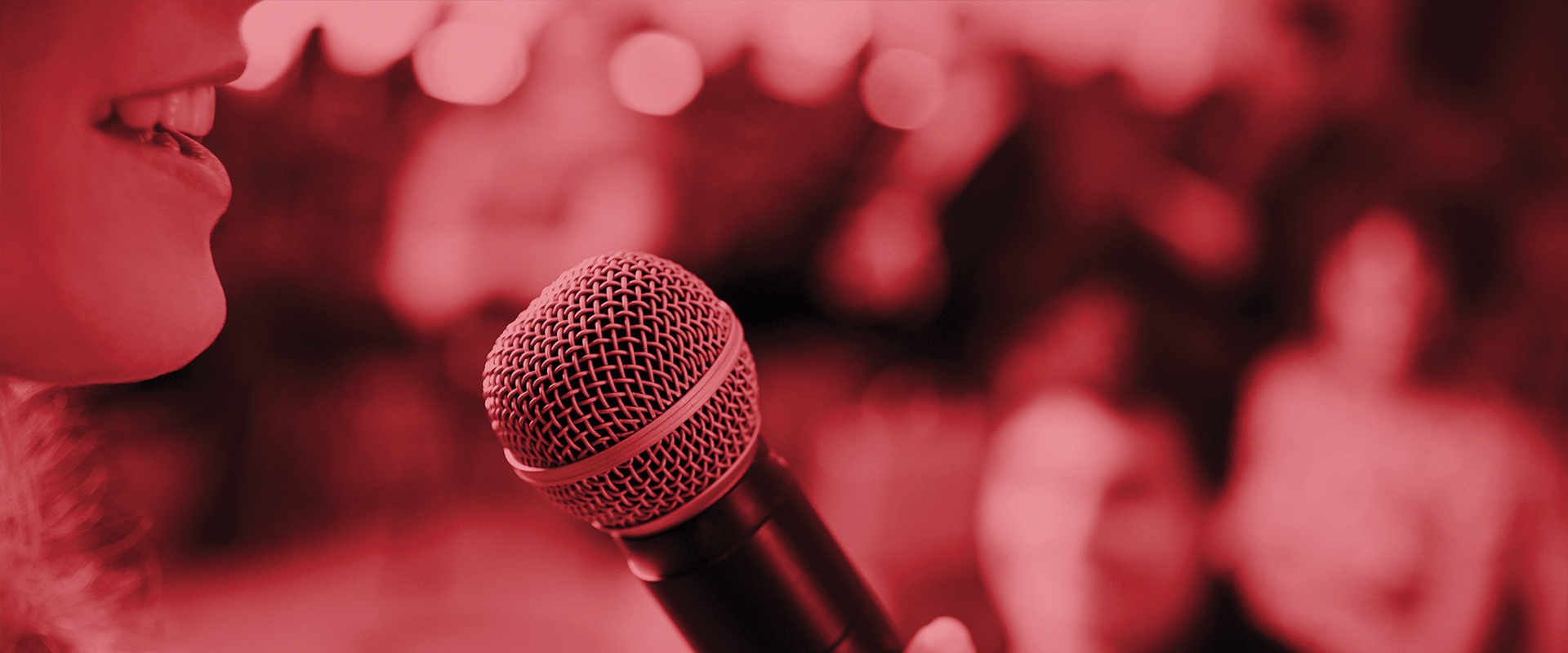 Stock photograph of celebrated speakers