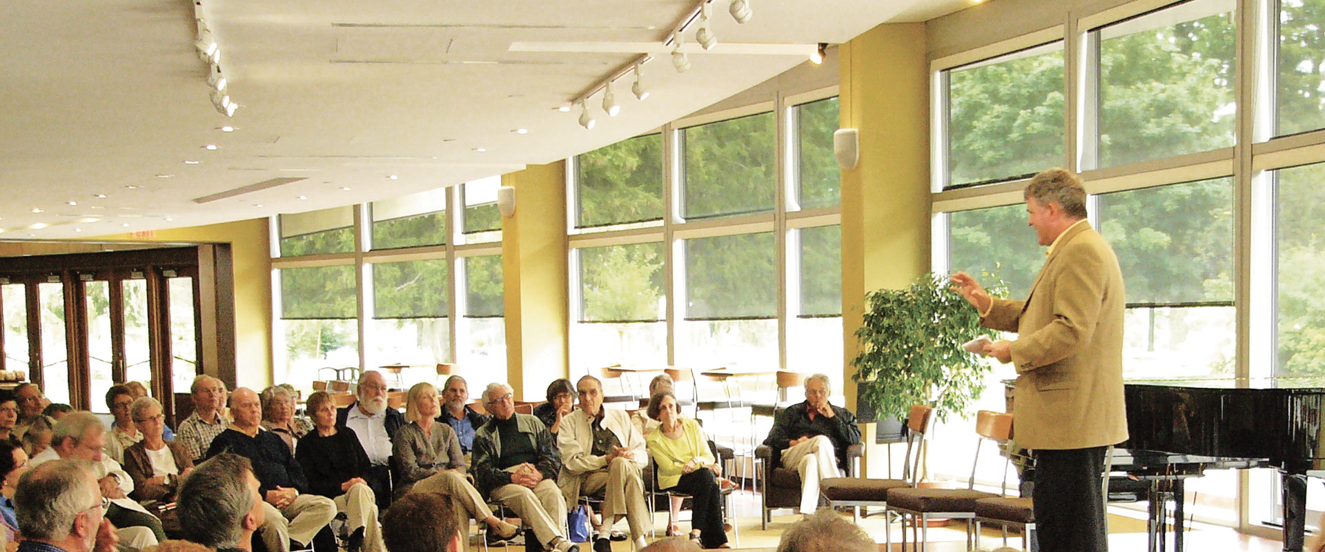 Archival photograph of a Lobby Talk