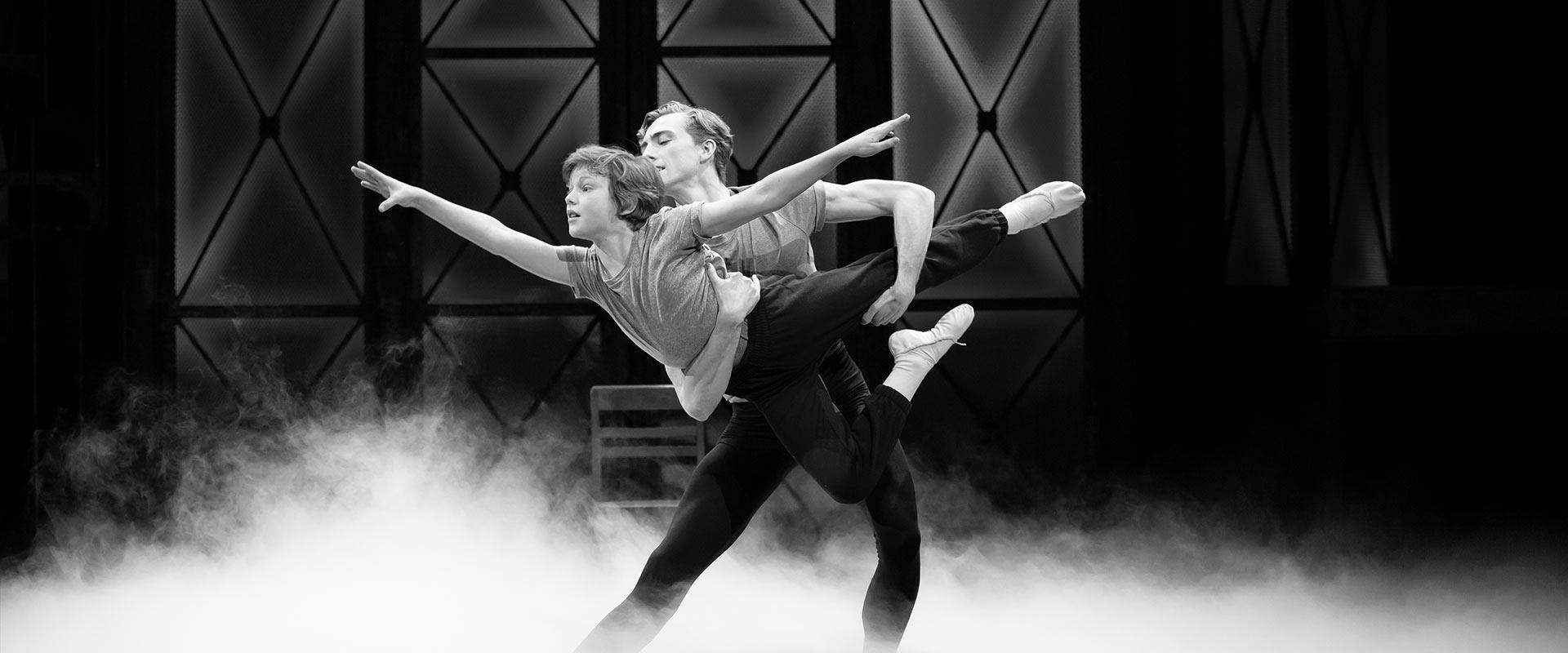 Archival photograph of a ballet dancer